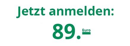 Jetzt anmelden ab 89 Euro.